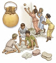 """Pueri ludentes. Bulla ~ childhood games and the """"bulla"""" amulet/locket worn by boys to protect them from evil"""