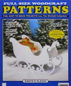 santa's wood sleigh | Santa's Sleigh Large Size Wood Craft Pattern by DocHolidays