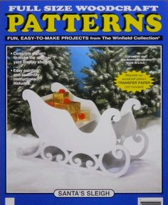 Santa's Sleigh (large Size) Wood Craft Pattern