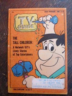 VINTAGE TV GUIDE VOL 12 NO 24 JUNE 13 - 19 1964 THE FLINTSTONES FRED FLINTSTONE