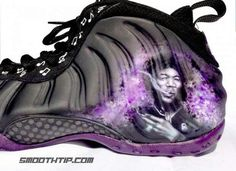 a3a910014d0 The Nike Air Foamposite One Purple Haze Custom pays tribute to Jimi Hendrix  and his famous song