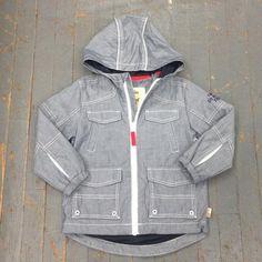 CKanz Junior Boys Road Trip Style Long Sleeve Zip Up Lightweight Hooded Jacket