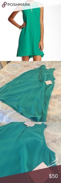 """Stunning Charles Henry Dress! NWT Details: NEW! Beautiful green color in a solid crepe midi is perfectly suited for those seeking a carefree style! - Crew neck - Sleeveless - Front button keyhole closure - Approx. 35.5"""" length Charles Henry Dresses Midi"""