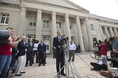 C-Net's Proposed Law:  Close Libel Loopholes http://www.examiner.com/article/c-net-s-proposed-law-close-libel-loopholes reposts the classic article addressing the suggestion of controlling litigation by legislation. Picture:  In front of Federal Courthouse in Charlotte, NC, General David Patraeus addresses a crowd.