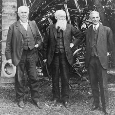 Thomas Edison, John Burroughs and Henry Ford in Ft. Myers by  Unknown Artist