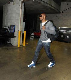 """Kobe wearing Jordan 13 """"Flint"""""""