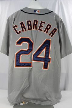 f680d5408a2 Details about Detroit Tigers Miguel Cabrera  24 MLB Majestic Youth Size Cool  Base Jersey New