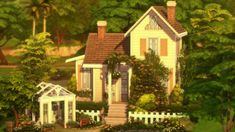 i always use way too many packs in my builds, so for once i wanted to make something everyone could use! here's a small, yellow base game house. no cc, on the gallery under ea id a-winged-llama : thesims Sims 4 House Plans, Sims 4 House Building, Sims 4 House Design, Casas The Sims 4, Suburban House, Sims 4 Build, Sims 4 Houses, Sims 4 Game, House Layouts