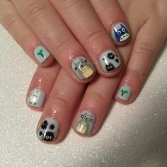 My neighbor totoro nails. Japanese anime