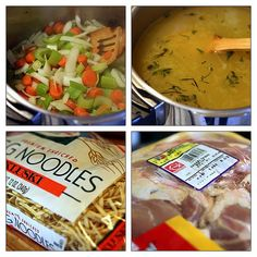 Chicken Noodle Soup Recipe - 1 Point Value - WW So I tried this today with a pre-cooked chicken and no crockpot. Love the seasoning and used chicken broth and only a little salt and it cooked in no time at all. I also used whole wheat egg noodles. Bon Appetit!
