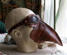 Steampunk Leather Mask Steamship Aviator by JoannaCorrinCoutures