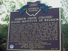 Hebrew Union College in Ohio is the oldest institution of higher Jewish learning in the United States.  That's cool! #hebrewunion @hebrewunion hebrewunion.edu
