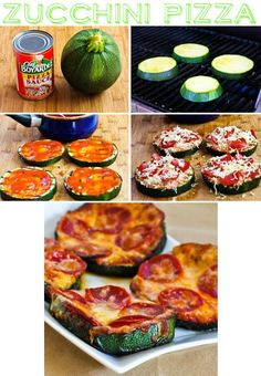 The Zucchini Pizza from Buzz Feed's 13 Healthy Gluten Free Ways to Make Pizza - gluten free food recipes
