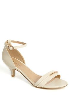 Cream Kitten Heel Sandals