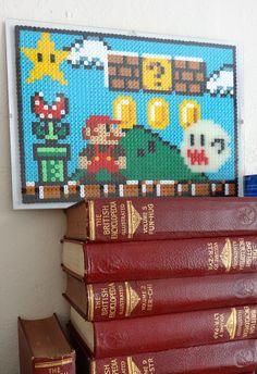 Super stylish Mario platform pixel art work, glass frame & glow in the dark. £26.00, via Etsy.