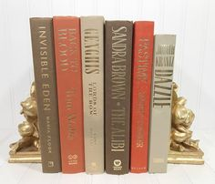 Orange and Brown Decorative Book Set. Shelf decor Mantel Decor Shelf decorating mantel decorating. Buy On Etsy Now