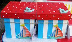 Cajitas de madera... pintaditas y listas para llevar de recuerdo birthday parti, cajita de