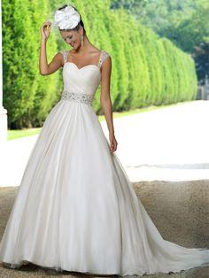 Pearl Bridal Dress   www.ForTheBrideMag.com Wedding Dress Organza, White Wedding Dresses, Princess Wedding Dresses, Wedding Dress Styles, Designer Wedding Dresses, Bridal Dresses, Wedding Gowns, Bridesmaid Dresses, Ivory Wedding