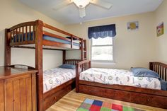 What a great use of space! Bunk beds in the kids room....