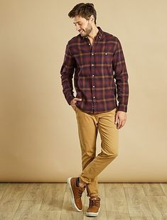 Flannel, light Pant & Sneakers #MensFashionFlannel