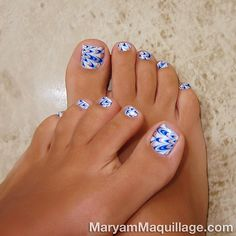 Blue toe nail art best 30 really cute toe nails for summer pretty designs Simple Toe Nails, Pretty Toe Nails, Cute Toe Nails, Pretty Toes, Toe Nail Art, Nice Toes, Pretty Pedicures, Beautiful Toes, Nail Nail