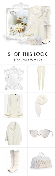 """""""Milk & Cookies"""" by auntmidnight ❤ liked on Polyvore featuring Eichholtz, River Island, David Koma, Leith, MANGO, Oliver Peoples and Isotoner"""