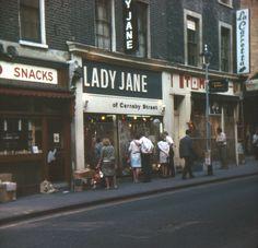 Lady Jane of Carnaby Street, July 1967 Cathy Mcgowan, Swinging London, Carnaby Street, Stylish Suit, British Prime Ministers, London History, Lady Jane, Old London, Vintage London