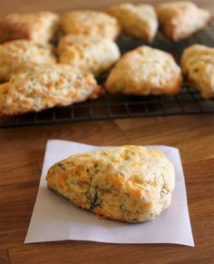 Cheddar Dill Scones (8 scones: self-rising flour, sugar, 5 T salted butter, canola oil, 2 C shredded sharp cheddar, 2 T dried dill (or 5 T fresh), and 1/2 C milk)