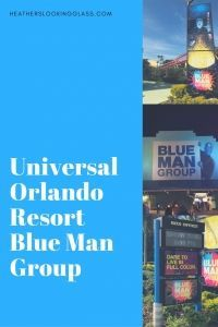 Universal Orlando Resort Blue Man Group is a fun show of art music and comedy at Universal's city walk in Florida.