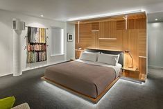 Apartment therapy small spaces design ideas for small spaces apartment therapy modern bedroom back wall bed Small Space Design, Small Spaces, Contemporary Bedroom, Modern Bedroom, Floating Bed Frame, Bed Design, House Design, Box Bedroom, Bedroom Ideas
