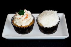 #glutenfree #dairyfree cupcakes of the month (until 11/28):  Dairy Free Pumpkin Spice – Our festive dairy free pumpkin cupcake, topped with a delightful dairy free pumpkin spiced frosting.  Dairy Free Coconut Cloud – Just the right amount of coconut in the cake; topped with dairy free vanilla frosting and shredded coconut. Delicious!