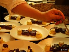 Lovely picture from the blogger Wilkes - Head Chef Robert Ortiz plating Beef Pachamanca