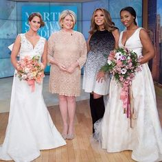 Loved seeing our #oscardelarenta and #lelarose gowns on the #wendywilliams show with #marthastewart today!  Dying to get our hands on Martha's new #weddings book!  #nobodydoesweddingslikemartha #regram @martha_weddings