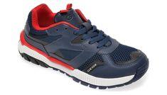 Pantofi sport GEOX bleumarin, J02AXC, din material textil si piele ecologica