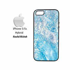 Aqua Blue Glitter iPhone 5/5s HYBRID Case Cover