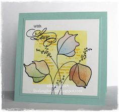 Floral stamp is by Penny Black, I masked the edges of the card stock before inking with distress inks. Flowers were paper pieced using an old inked tag that I had laying around. http://livelaughstamp.blogspot.com/2018/02/penny-black-and-more-midmonth-post.html