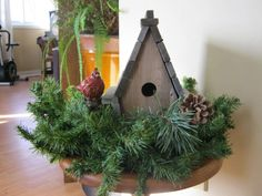 Birdhouse and Cardinal from Norman's Garden gallery