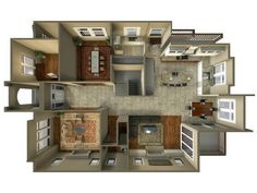 Home Design Apt Floor Plans For Two Student Shared Three D Top