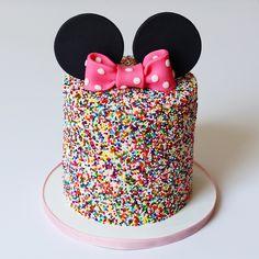 Minnie Mouse sprinkle cake The post Minnie Mouse sprinkle cake appeared first on . Minni Mouse Cake, Minnie Mouse Birthday Cakes, Mickey Cakes, 1st Birthday Cakes, Disney Birthday, Birthday Parties, Minnie Mouse Cupcake Cake, Minnie Mouse Stuff, Mickey And Minnie Cake