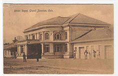 Union Railroad Depot Grand Junction Colorado 1908 Postcard