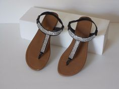 Montego Bay Club Women's Brown Thong Sandals Size 7.5 M Free Shipping #MontegoBay #FlipFlops