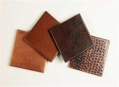 Our Finishes, from Left to Right - Matte Copper, Cafe Natural, Dark Smoke, Rio Grande