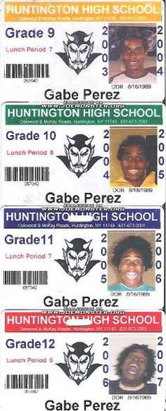 Gabe Perez's high school IDs