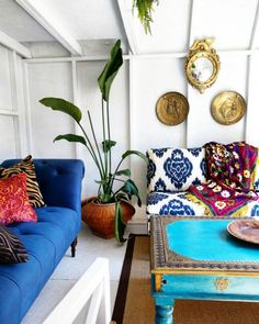 Eclectic Home Tour - Insieme House - tour this tiny house including a tiny she shed with boho flair