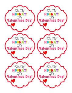 Kinzie's Kreations: Free Printable - Sip Sip Hooray straw Valentine printable