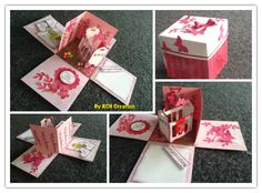Exploding Box card to welcome baby Exploding Box Card, Welcome Baby, Card Stock, Stampin Up, Congratulations, Projects To Try, Just For You, Gift Wrapping, How To Make