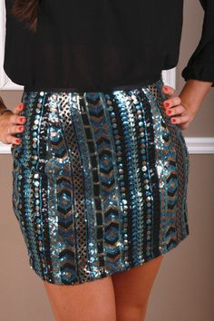 Tucson Sequin Skirt- A dressy skirt is a must have staple