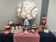 Dora V's Birthday / Baseball - Vintage Baseball Party at Catch My Party Softball Birthday Parties, Baseball First Birthday, Boys First Birthday Party Ideas, Baby Boy 1st Birthday, Birthday Party Themes, Softball Party, Sports Birthday, Theme Parties, Baseball Party Foods
