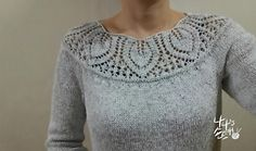 Ravelry: #14 Leaf Yoke Top pattern by Angela Hahn