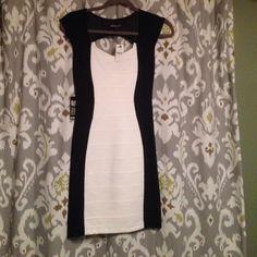 Express dress Black and white Express Dresses
